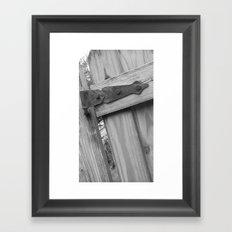 unhinged BW Framed Art Print