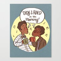 Troy And Abed In The Mor… Canvas Print