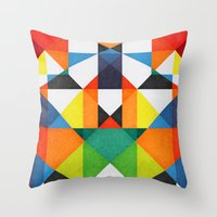 Color Therapy Throw Pillow