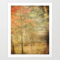 Fall red Art Print