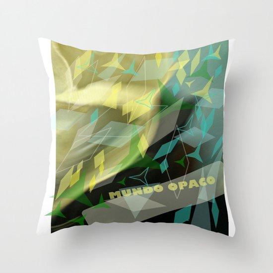 Opaque world: garment in the air. Throw Pillow