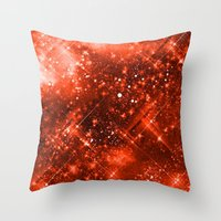Dazzling Series (Orange) Throw Pillow