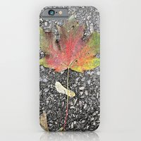 iPhone & iPod Case featuring An Autumn Leaf by Efua Boakye