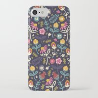 flowers iPhone & iPod Cases featuring Ditsy Flowers by Poppy & Red