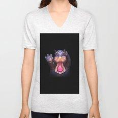 Animal Portraits - Hippopotamus Unisex V-Neck
