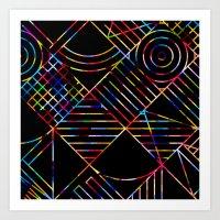 Rainbow Whackadoodle Art Print