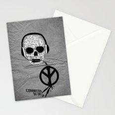 Love' skull -  a collaboration between Sam Guilhen and Gwenola de Muralt - Stationery Cards