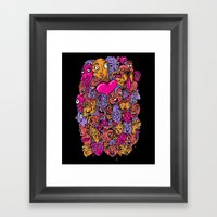 Face Melter Framed Art Print