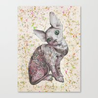 Troublemaker yellow Canvas Print