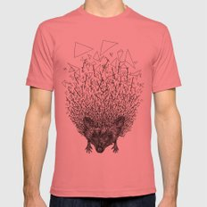 Thorny hedgehog Mens Fitted Tee Pomegranate SMALL