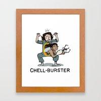 Chell Burster Framed Art Print