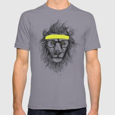 Hipster Lion Mens Fitted Tee Slate SMALL
