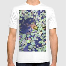 Mr. Frog SMALL Mens Fitted Tee White