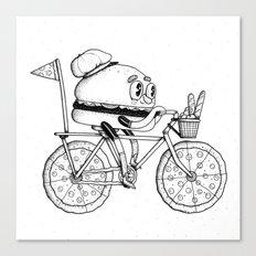Pizzabike Burger Canvas Print