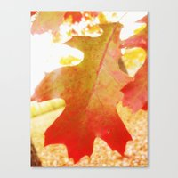 Leaf me alone Canvas Print