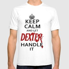 Keep Calm And Let Dexter Handle It Mens Fitted Tee SMALL White