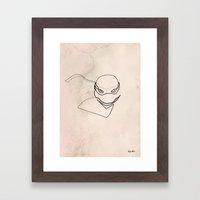 One line TMNT Framed Art Print