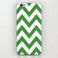 MEAN GREEN CHEVRON iPhone & iPod Skin