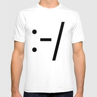CROOKED SMILE Mens Fitted Tee White SMALL