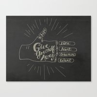 Give Yourself Away - Hand drawn Canvas Print
