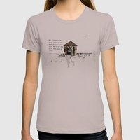 Mel Gibson is in your shed Womens Fitted Tee Cinder SMALL