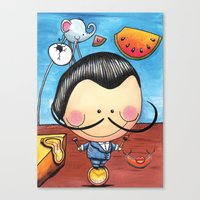 Salvador Dali, Children Illustration, Art for kids, colorful art prints Canvas Print