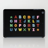 Alphabet On Black iPad Case