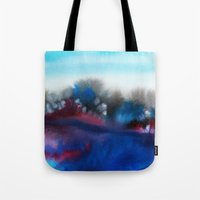 Watercolor abstract landscape 25 Tote Bag