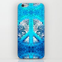 Abstract Blue Peace Sign iPhone & iPod Skin