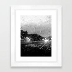 Rain in Ridgewood Framed Art Print