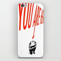 You Are Here iPhone & iPod Skin