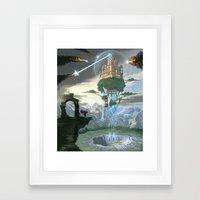 Sky Fortress Framed Art Print