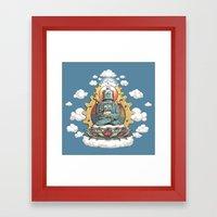 Buddha Bot V6  Framed Art Print