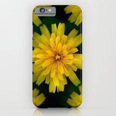 Yellow Natural Flowers On Black Background iPhone 6 Slim Case