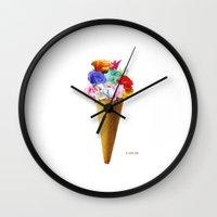 Flowers Flavor I  Wall Clock