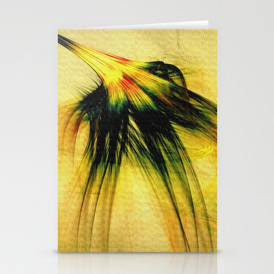 Flower in the Wind 2 Stationery Card