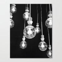 Llight bulbs Canvas Print
