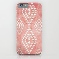 mint & coral tribal pattern (2) iPhone 6 Slim Case