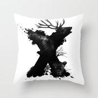 X ANIMALS Throw Pillow
