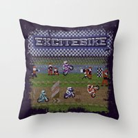 Excitebike Throw Pillow