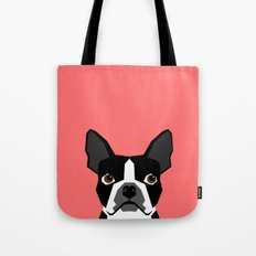 Kennedy - Boston Terrier… Tote Bag