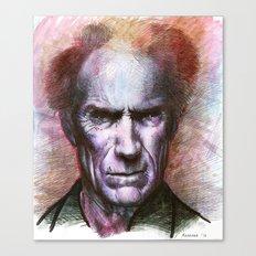 Clint Eastwood Portrait Canvas Print