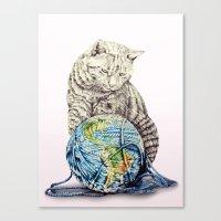 In Which Our Feline Deit… Canvas Print