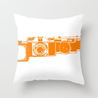 Orange photo Throw Pillow