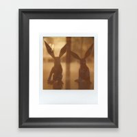 Rabbit Rabbit Framed Art Print