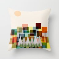 The Mountains At Sunrise Throw Pillow