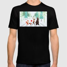 Abbey Road SMALL Black Mens Fitted Tee