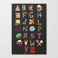 Dessert Alphabet  Canvas Print