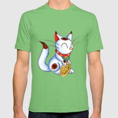 Calico Kitty Mens Fitted Tee Grass SMALL