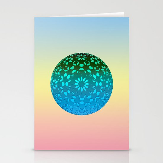 Sphere Variations 3 Stationery Card